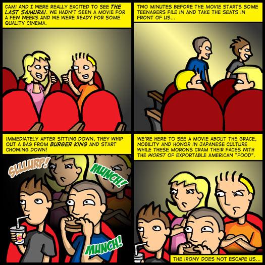 The Last Samurai, ettiquite, Burger King, irony, true story
