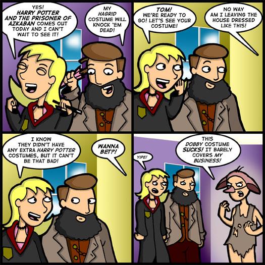 Harry Potter and the Prisoner of Azkaban, Hagrid, costume, dress up, Dobby