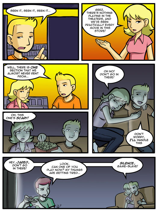 guest strip, Clay Yount, Hampton Yount, Rob and Elliott, video games, scary