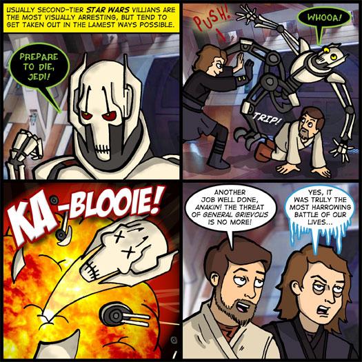 Star Wars - Episode III: Revenge of the Sith, Obi Wan Kenobi, Anakin Skywalker, General Grievous, destruction, push, lame