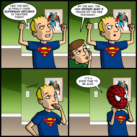 Superman Returns, Spider-Man 3, excitement, blessing, trailer, mask