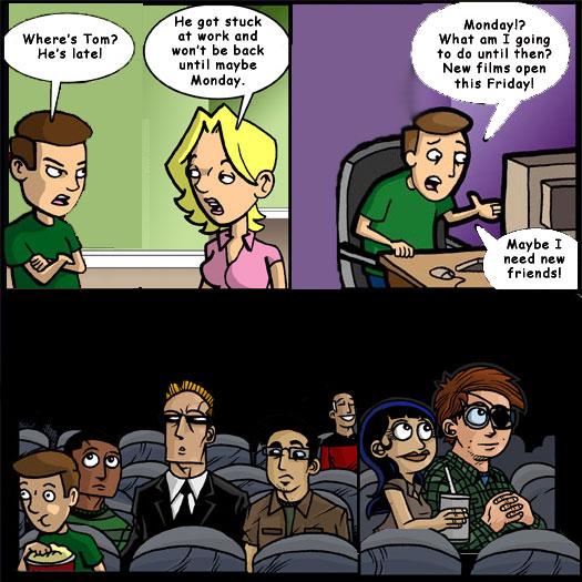 new friends, guest strip, Daniel Pelfry, Digital Entertainment News, Joe Loves Crappy Movies, Joe Dunn