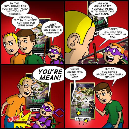 Teenage Mutant Ninja Turtles, YouTube, internet, video, camera, phone, kid, dress up, costume