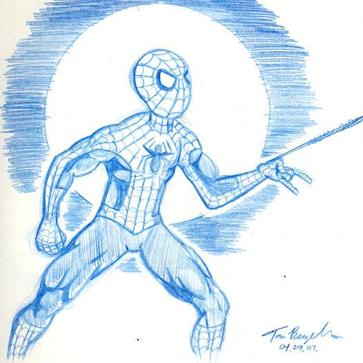 sketch, Spider-Man