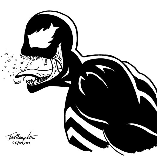 Spider-Man 3, Venom, Topher Grace, sketch