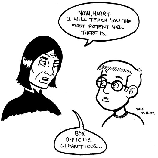 Harry Potter, Professor Snape, spell, sketch, box office