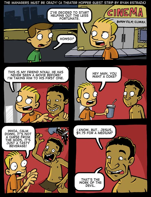 guest strip, Ryan Estrada, The Gods Must Be Crazy, Coke, devil, tasty beverage