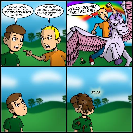 Dragon Wars, unicorn, Hillstryder, poop