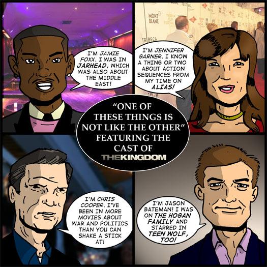 The Kingdom, Jamie Foxx, Jennifer Garner, Chris Cooper, Jason Bateman, Alias, Jarhead, Middle East, war, politics, The Hogan Family, Teen Wolf Too