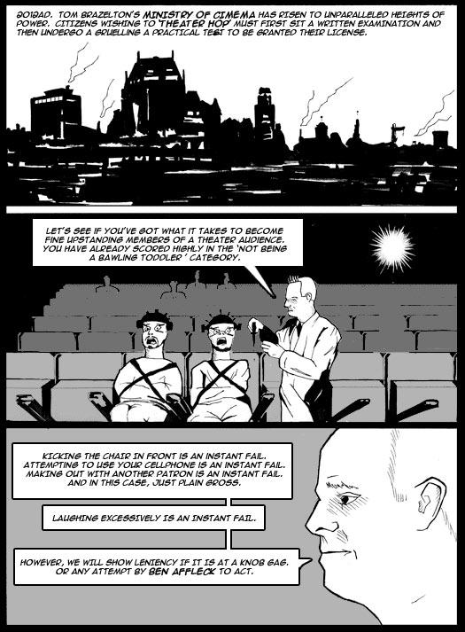 guest strip, Vic Taplin, Ding, future, Tom Brazelton's Ministry of Cinema, examination, fail