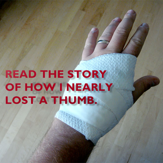 accident, emergency room, ambulance, stitches, router, blood, story, power tool