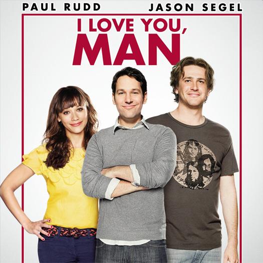 I Love You Man, Paul Rudd, Jason Segel, Rashida Jones, Andy Samberg, DVD review, Blu-ray
