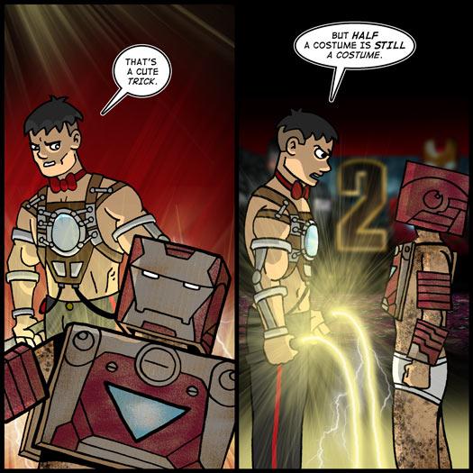 Iron Man 2, costume, dress up, suitcase, Victor, whiplash, trick