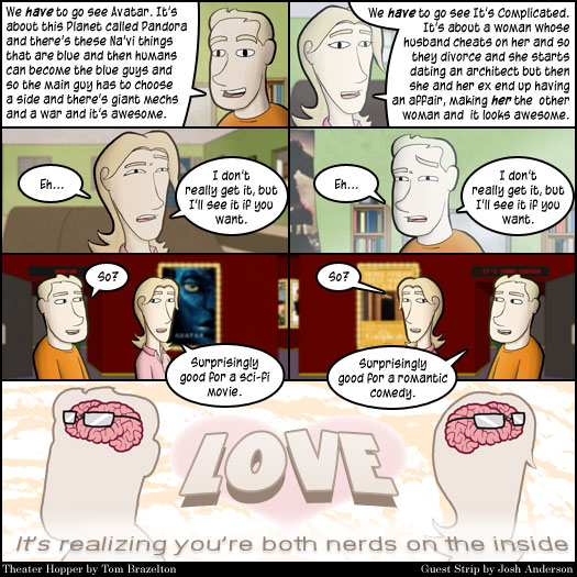Guest Strip, Josh Anderson, Game U, love, nerds, Avatar, It's Complicated, relationships